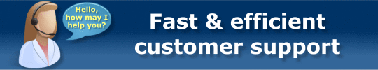 Fast & efficient customer support